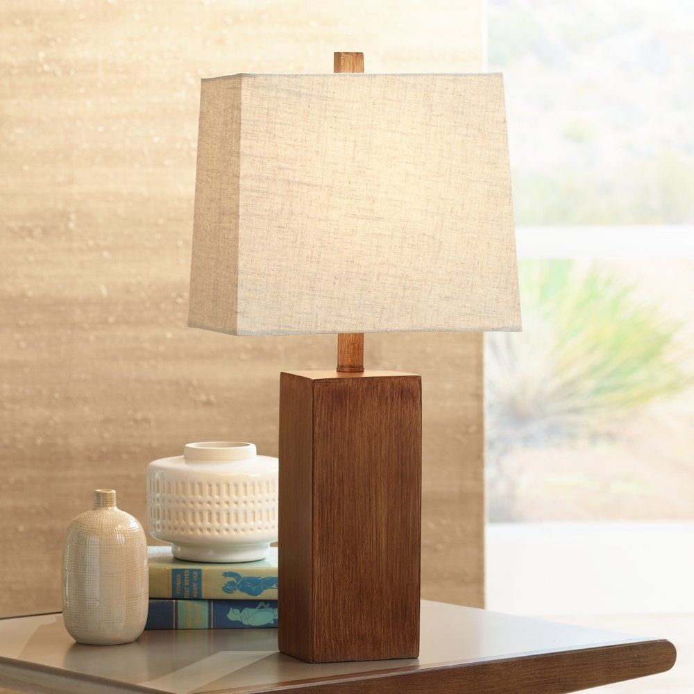 Excellent Darryl Wood Finish Rectangular Table Lamp Amazon Com Home Interior And Landscaping Ponolsignezvosmurscom