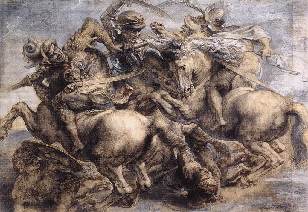paul rubens copy of the battle of anghiari by leonardo da vinci would love to see this recovered one day