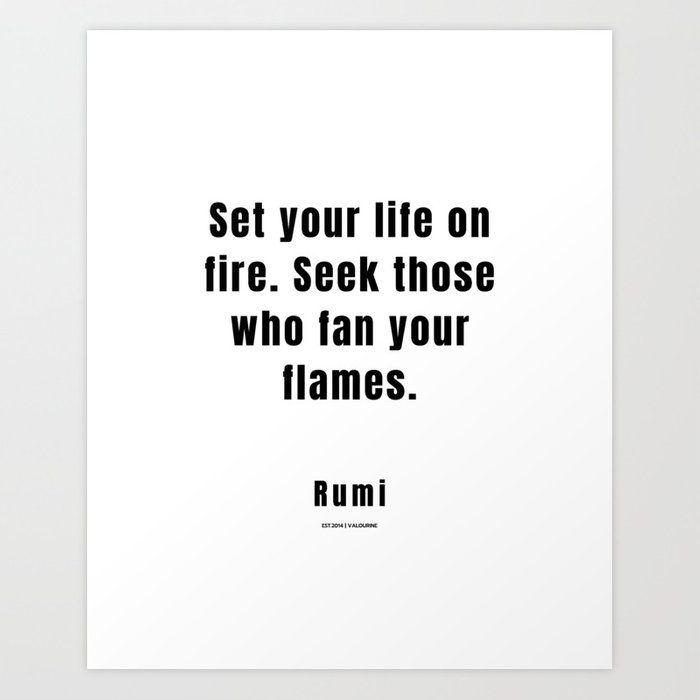 11 | Rumi Quotes | 210106| Poet Poem Sufi Literature Spiritual Mystic Wall Art Decor Art Print by Wordz