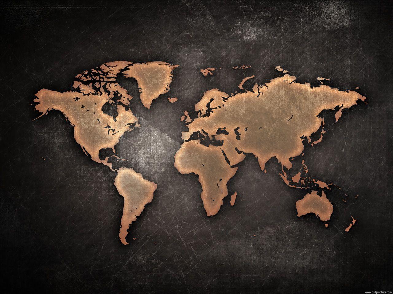 Grungy world map background vintage pinterest grungy world map background gumiabroncs Gallery