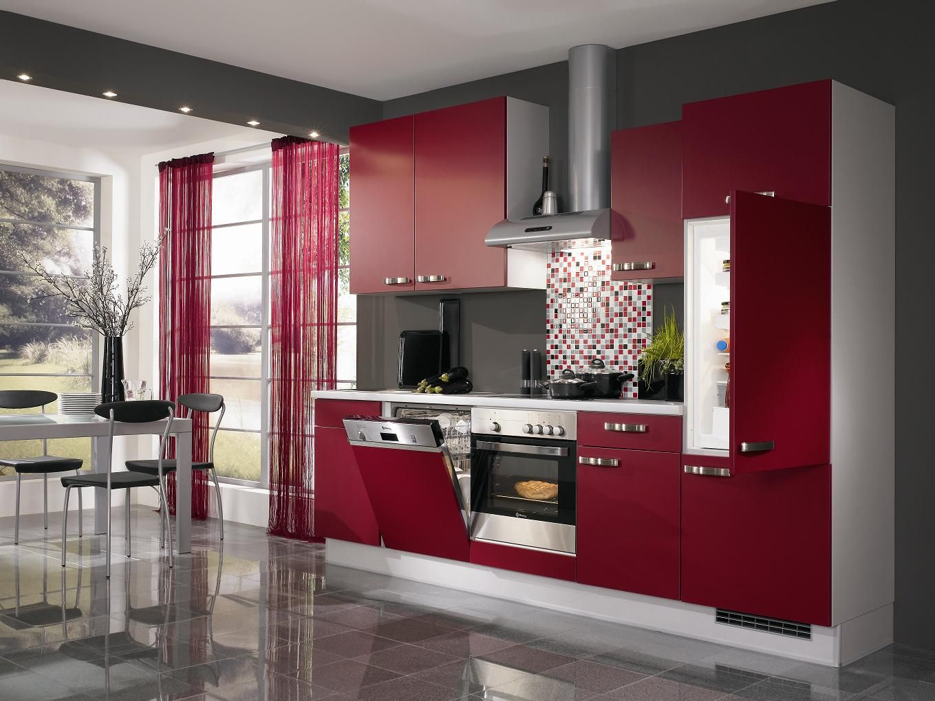 Red Kitchen Design Grey And Red Kitchen Designs Country Kitchen Designs
