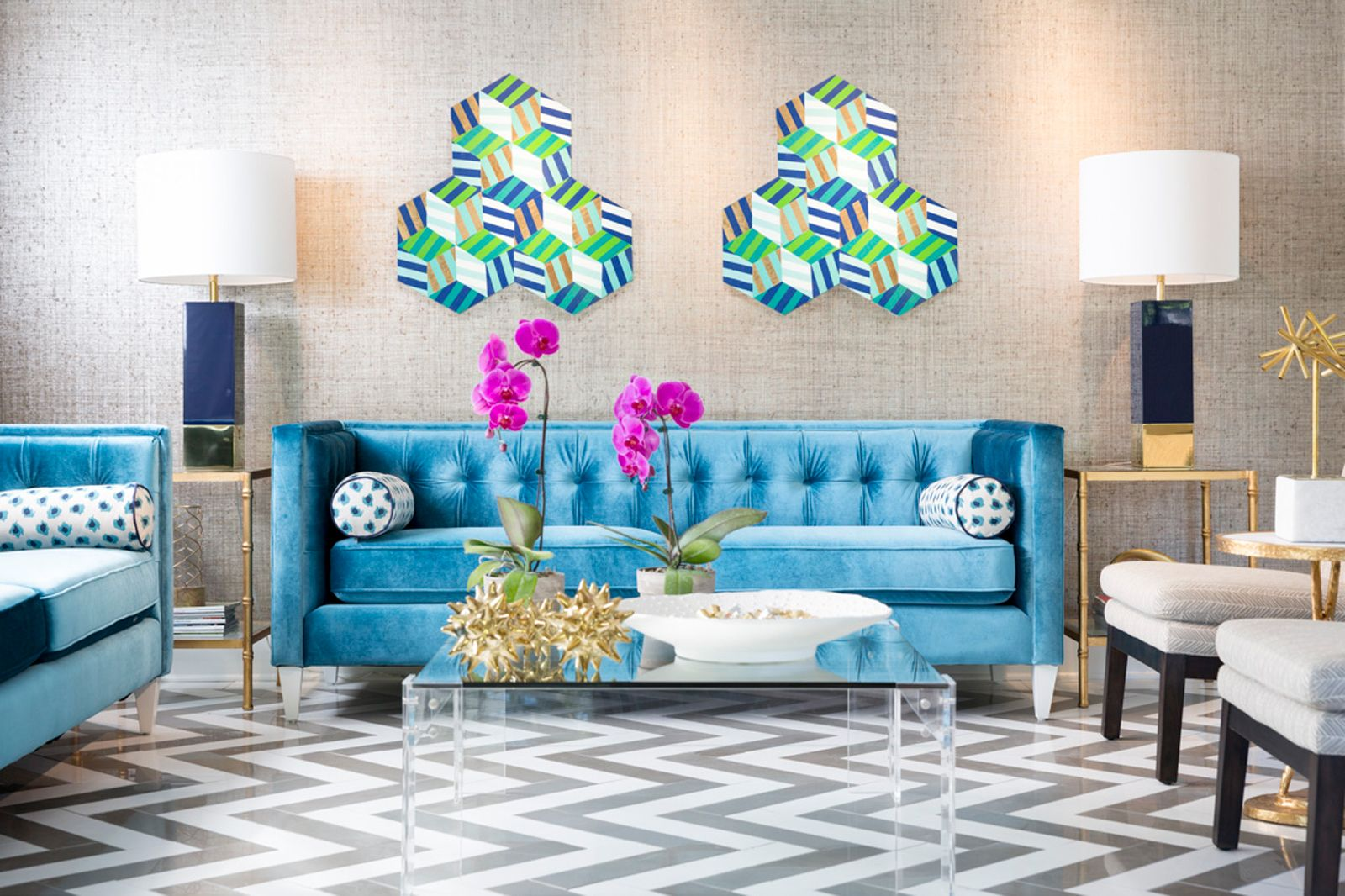 For a Different twist on Blue & Green:Turquoise,green & gray come together to create interest and breathe life into a room.