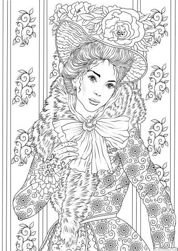 1050+ Coloring Book For Adults Clothes Free Images