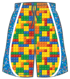 LU Custom Block Busta shorts with a tetris game design allowing you to stand out amongst your friends on and off the practice field...