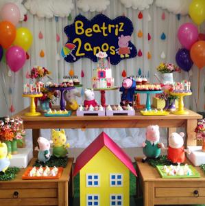 Fiesta tem tica de peppa pig pig party and pig birthday - Como hacer adornos para fiestas ...