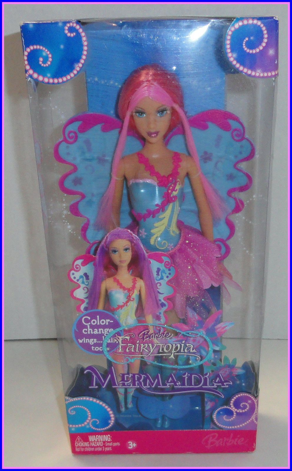 Barbie Fairytopia Mermaidia Color Change Pink Hair Fairy 11 Inch