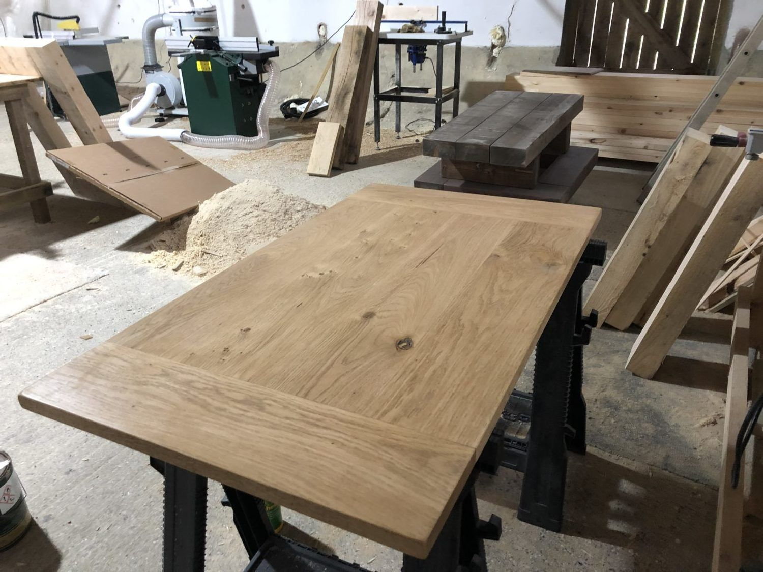 Custom Size Solid Oak Or Pine Table Top Desk Top To Fit Any Desk Frame Legs In 2020 Pine Table Solid Wood Desk Table
