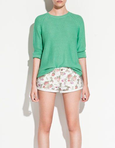 Zara reverse knit jumper