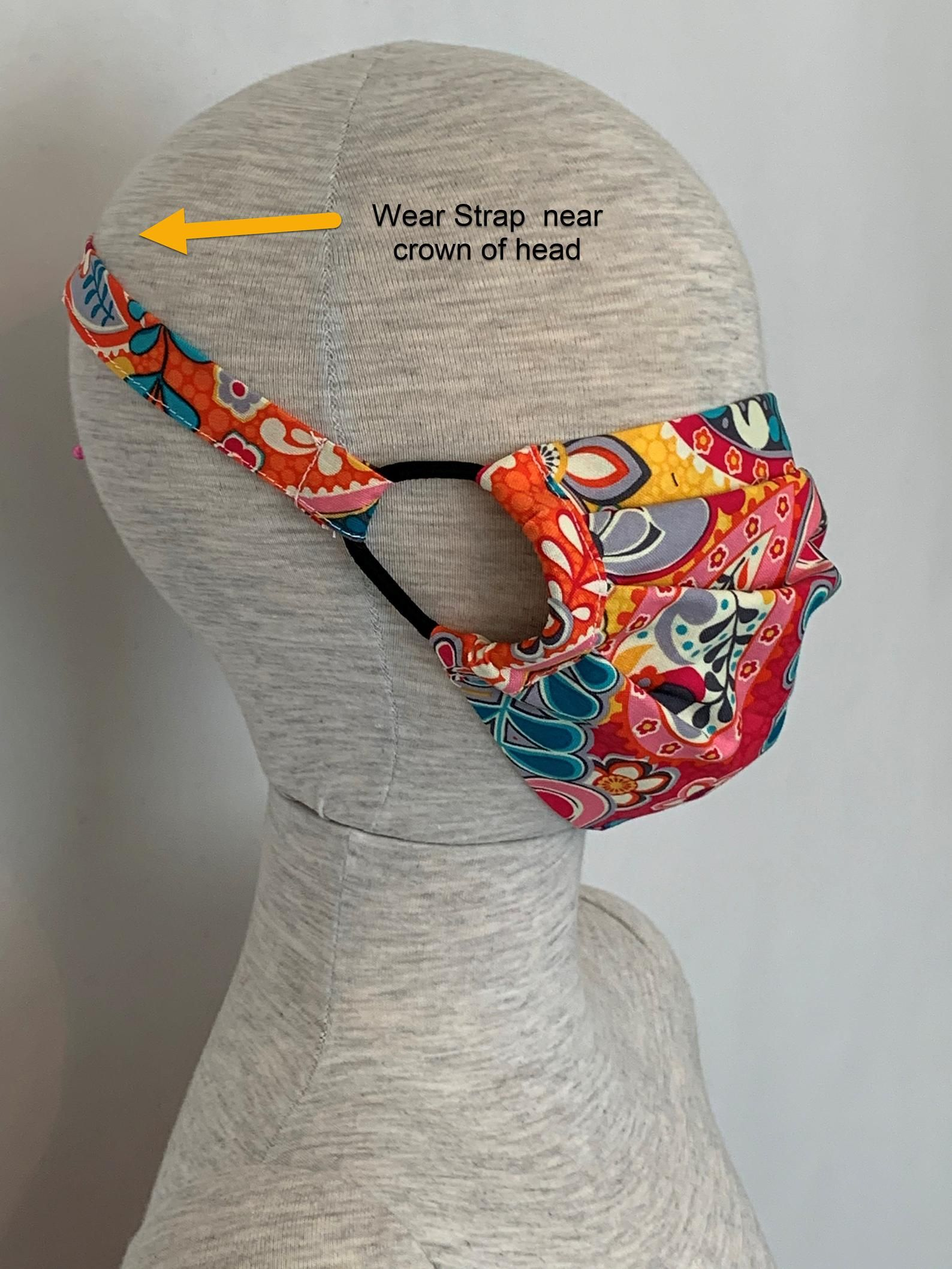 DIY Face Mask Pattern Pleated Mask with a Filter Pocket