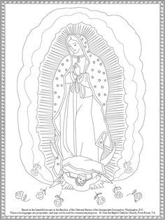 our lady of guadalupe coloring page # 80