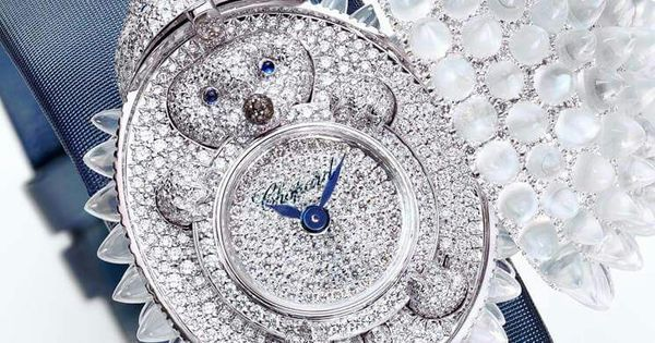 #assetoftheday Chopard's Hedgehog Secret Watch. Chopard's Animal World collection showcases 150 stunning bestiary pieces. This particular masterpiece features an 18-carat white gold hedgehog embellished with moonstone quills and illuminated by diamonds; the sapphire-eyed mammal opens up to expose its gorgeous pavé diamond dial held by a baby hedgehog.