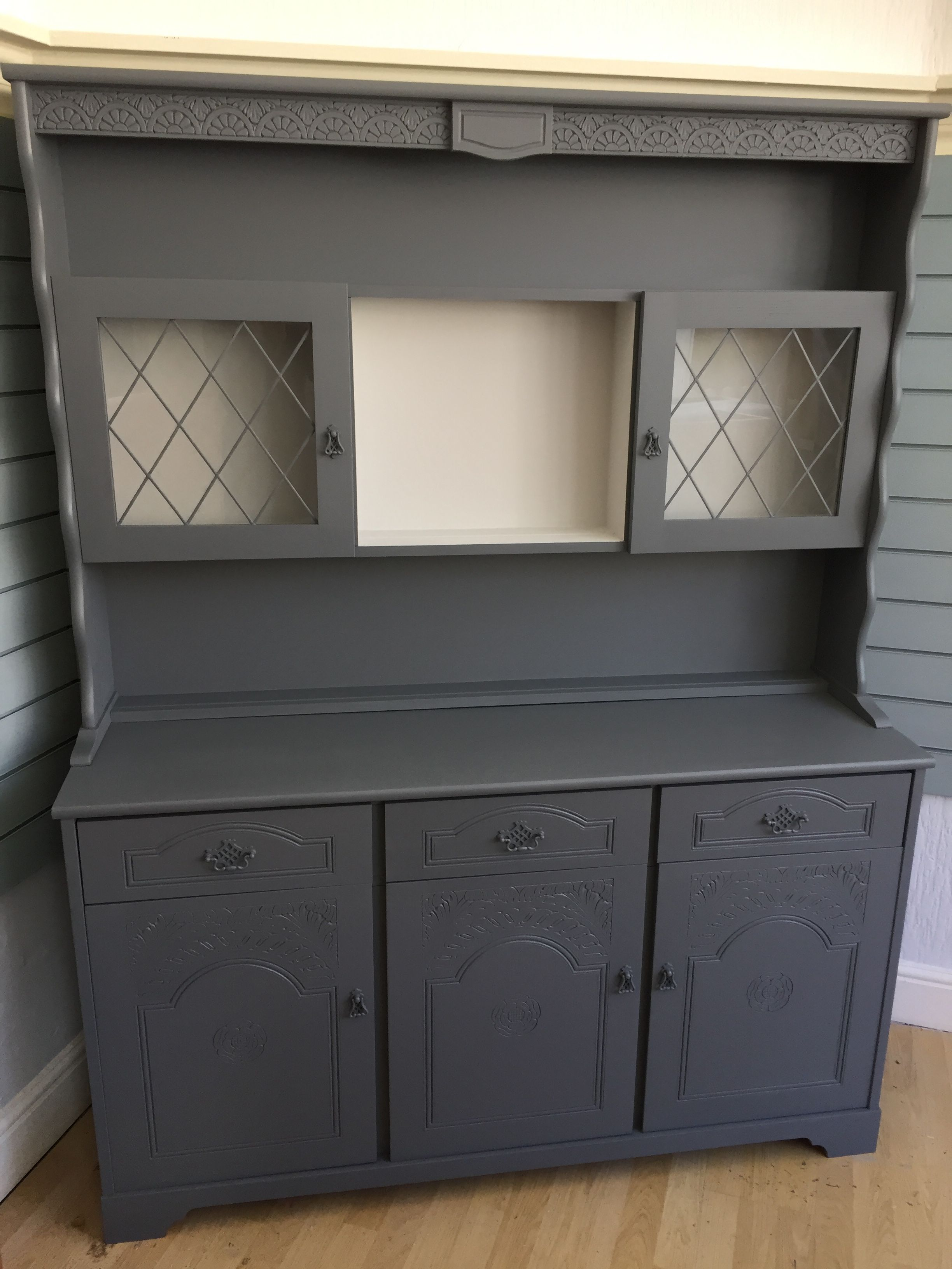 This dresser was painted in Frenchic Al Fresco Greyhound & Wolf