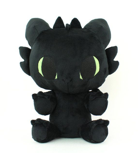 Plush sewing pattern PDF Toothless Baby Dragon stuffed animal - chibi plushie kawaii DIY plushie so
