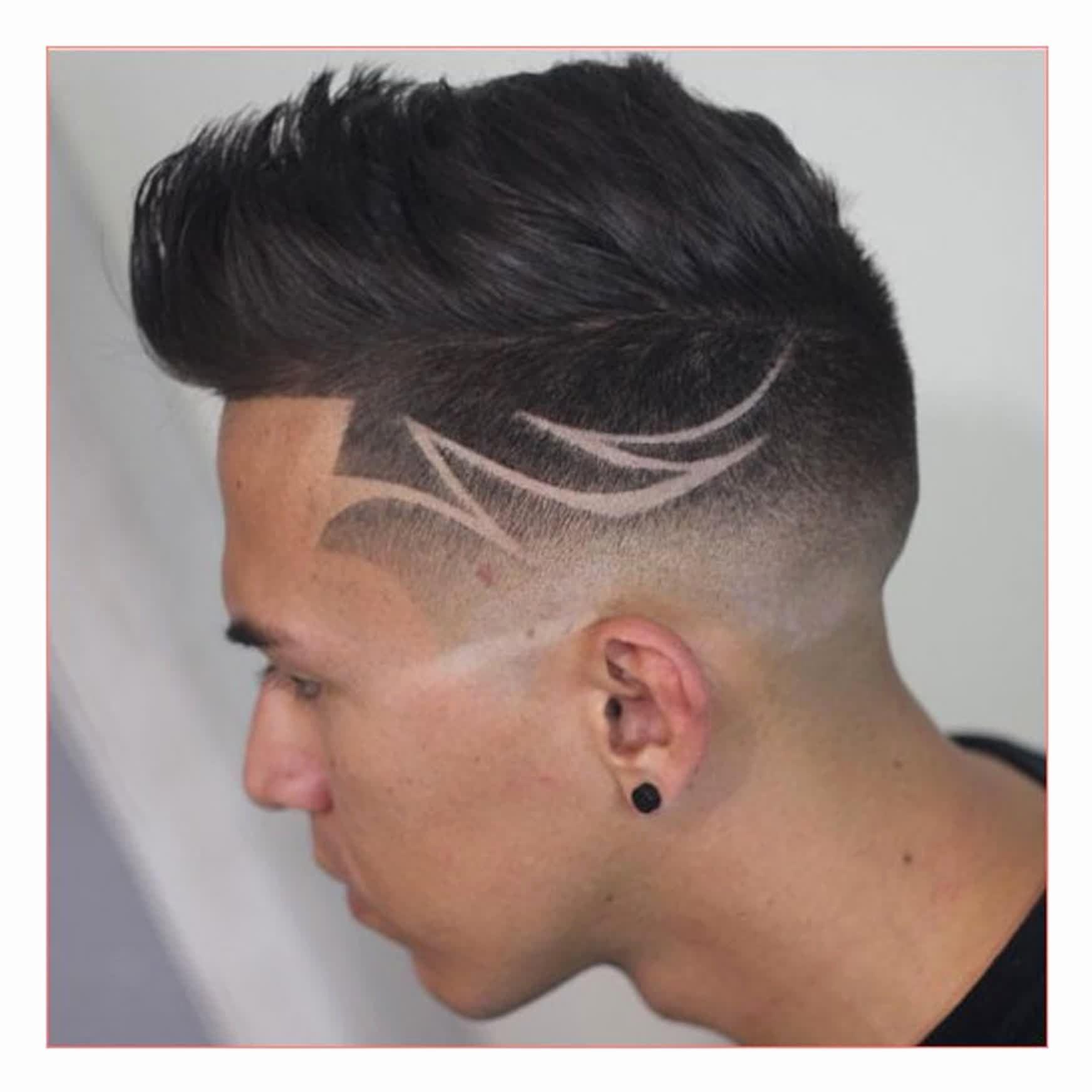 Hairstyles For Men Tribal  Faded hair, Hair tattoo designs, Hair