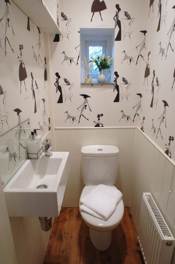 Quirky Wallpaper Adorns The Ground Floor Wc Smallest Room In The House