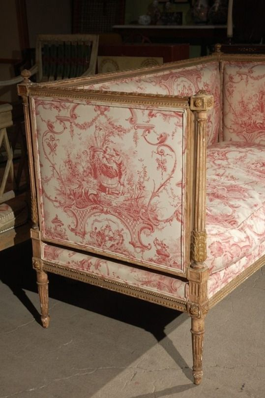 Fabulous French Toile Settee Home Design Pinterest