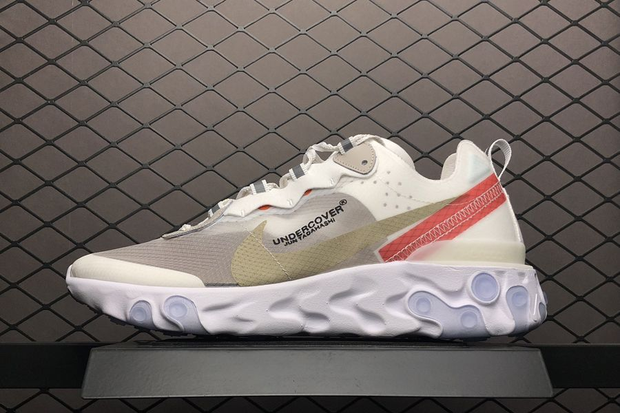 Undercover x Nike Epic React Element 87 White Cream Red in