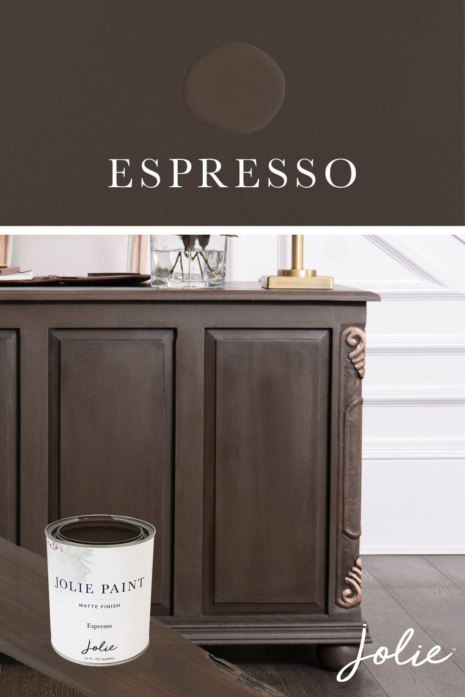 Espresso Jolie Paint Brown Paint Colors Chalk Paint Colors Furniture Dark Brown Paint Color
