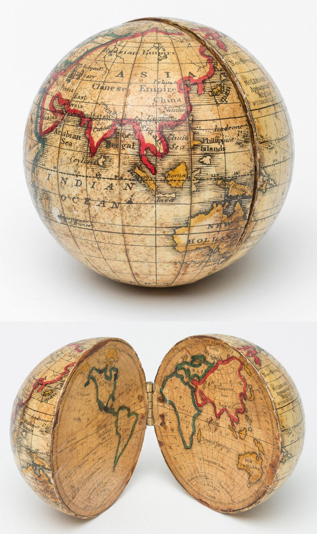 An Opening Pocket Globe made by Holbrook Apparatus Manufacturing Co