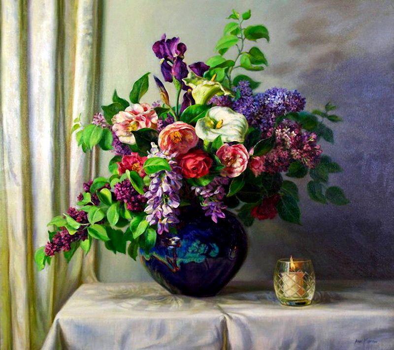 Я люблю рисовать цветы... Художница Ann Morton. | Цветы ...