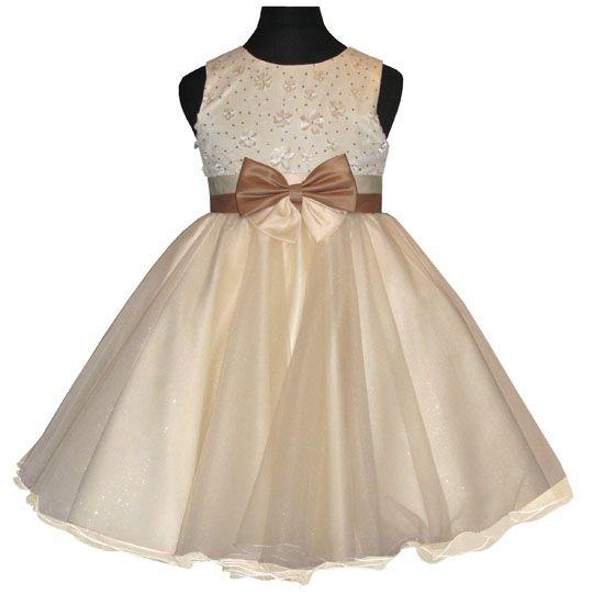 Φορέματα για Παρανυφάκια - Επίσημα Φορέματα για Κορίτσια    Παμέμορφο Σατέν  Φόρεμα σε Ιβουάρ - 02c7d31842d