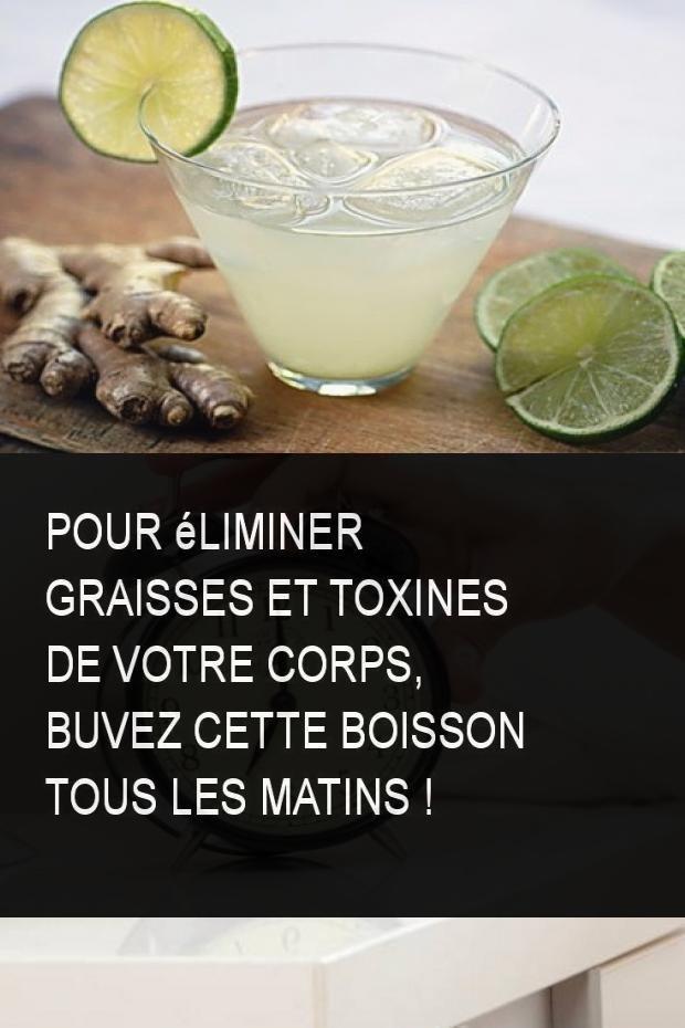 Pour éliminer graisses et toxines de votre corps, buvez