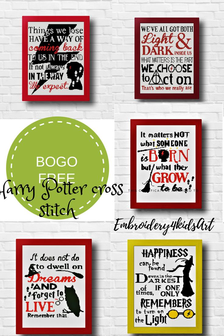 Harry Potter cross stitch pattern Quotes J K Rowling