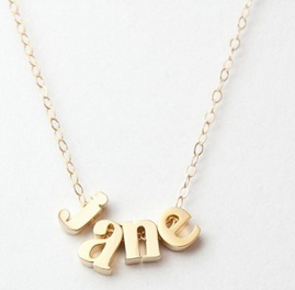 Lowercase Letter Name NecklaceGold Rose Gold Name Necklace Check