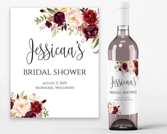 photograph relating to Printable Wine Bottle Labels identify Bridal Shower Wine Labels Bridal Wine Printable Wine Label