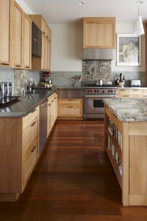 Blonde Wood Cabinet Design Ideas Pictures Remodel And Decor Eclectic Kitchen Maple Kitchen Cabinets Wood Kitchen