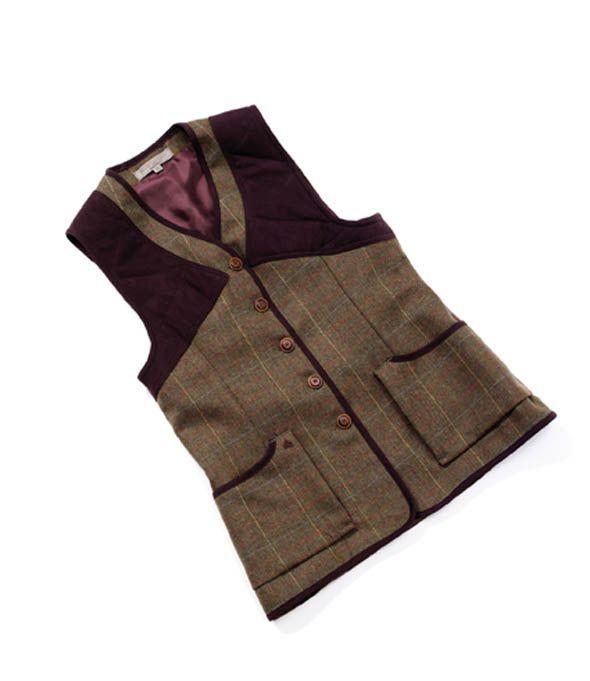 Laksen Skibo Ladies Tweed Vest -Tweed Shooting Waistcoat, 100% Pure New Scottish Wool #Equestrian #Bestinthecountry