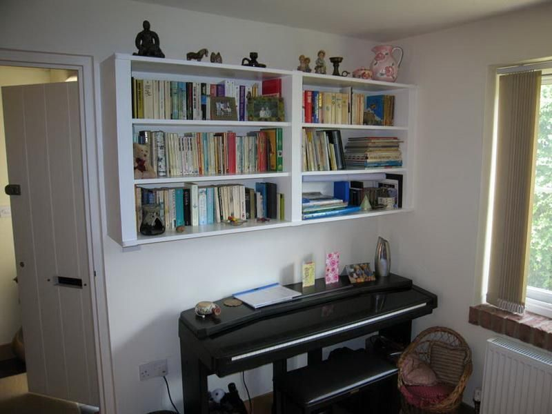 Wall Mounted Bookcase Ideas for Home Office: Hanging Wall Mounted Bookcase   Vizimac