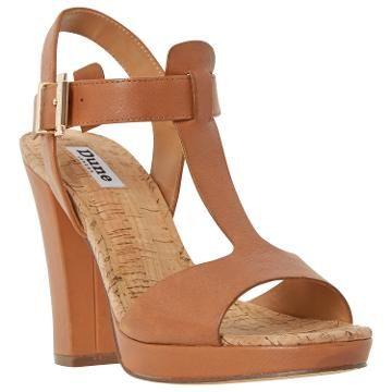 d39fd7cd439 Want! Dune Ismin T-Bar Block Heeled Sandals