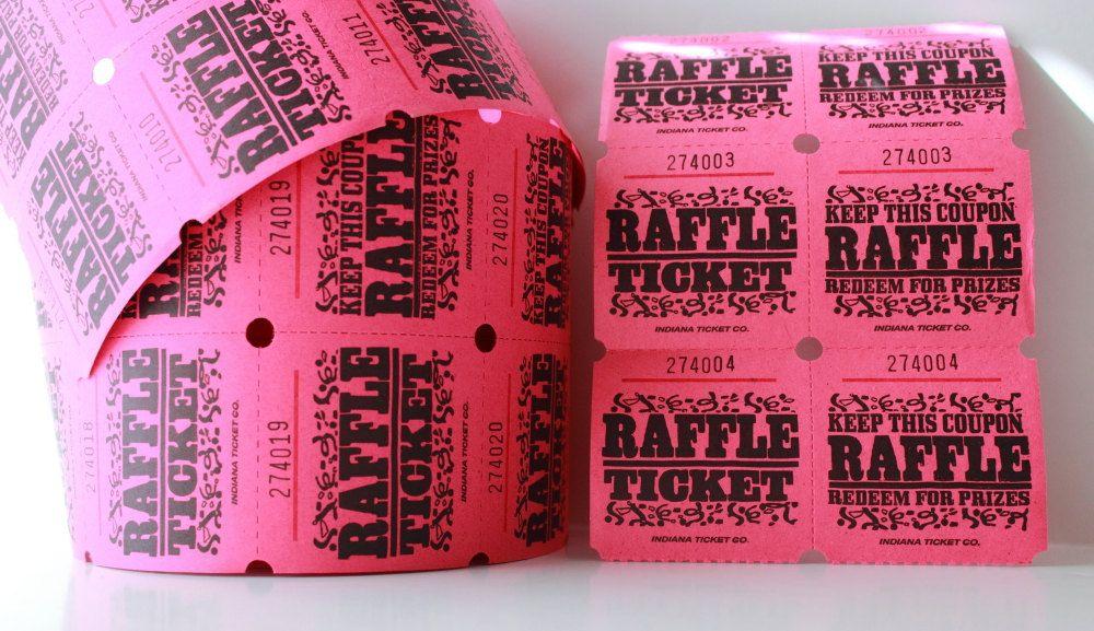 25 pink 2 part raffle tickets baby shower raffle pink wedding
