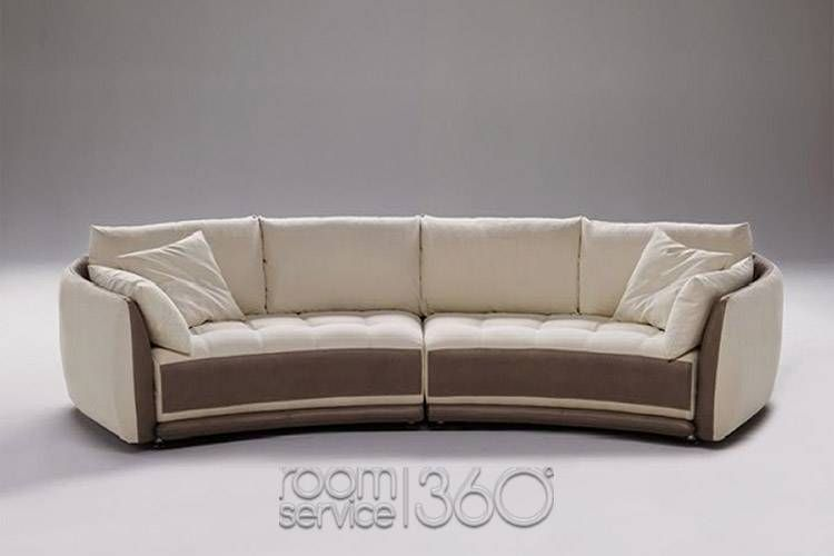Sofa Designer circular sectional sofa | planet contemporary italian leather