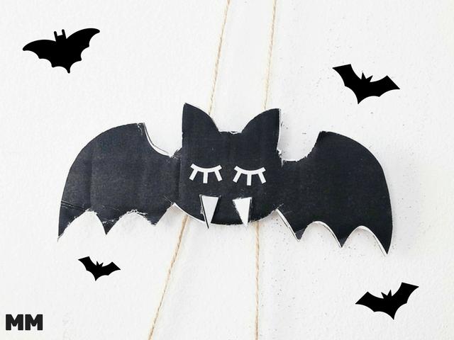 Fliegende Fledermaus Basteln Fledermaus Basteln Basteln Halloween Basteln