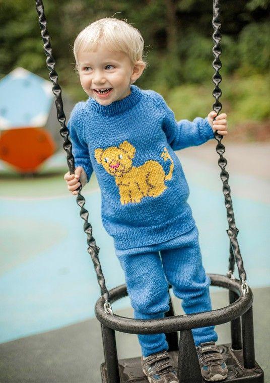 Løveungen genser | Petra, Strikk, Genser