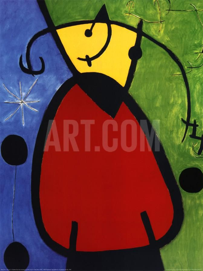 Daybreak Tagesanbruch, 1968 Art Print by Joan Miró at Art.com | Art ...