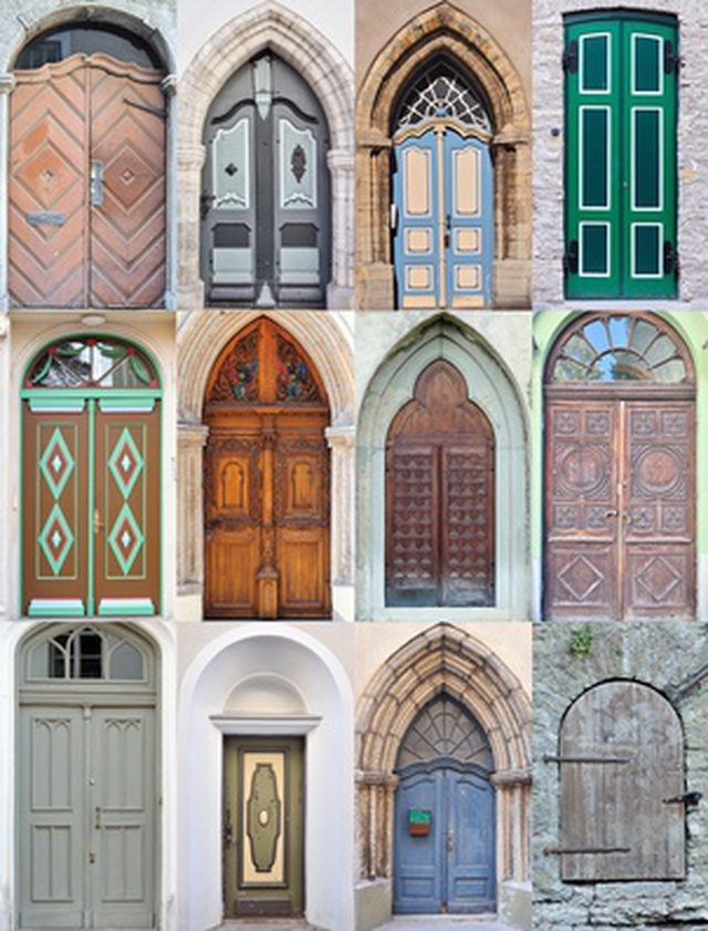 Cover your doorway with a knotted curtain.   Gorgeous doors, Arched doors, Cool doors