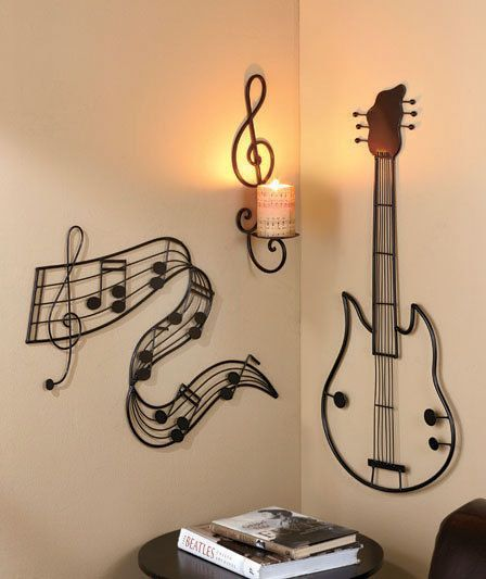 Musical Wall Art Collection Treble Clef Candle Sconce Musical Notes Guitar | eBay
