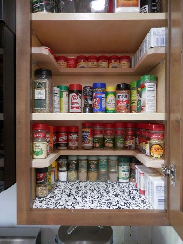 Diy Spicy Shelf Organizer Diy Kitchen Storage Kitchen Cabinet