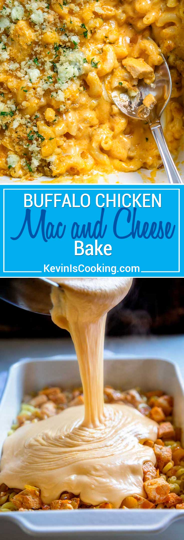 Buffalo Chicken Mac and Cheese #buffalochickenpastasalad