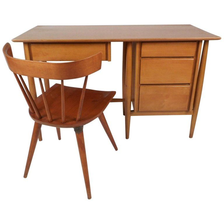Mid Century Modern Desk And Chair By Paul Mccobb Mid Century Modern Desk Modern Desk Modern Desk Chair