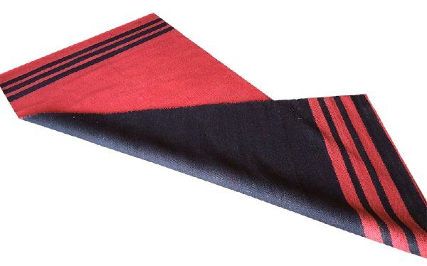 Reversible Red and Black Rug | Party at the Moontower Event Rentals
