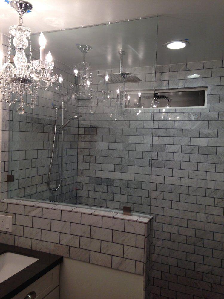 knee wall yes, tile work no Bathroom Remodel Pinterest