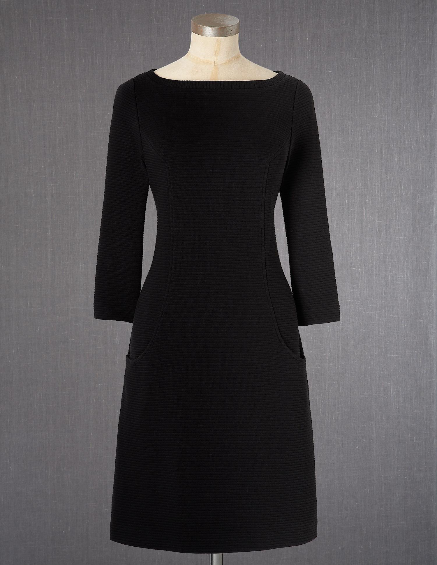 Ium in love simple elegant black dress three quarter sleeve