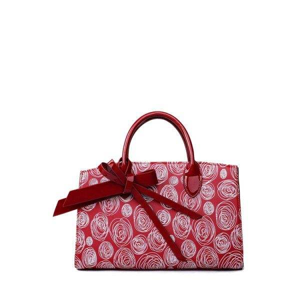 Elegant Patent Leather and Scrawl Design Women's Tote Bag #jewelry, #women, #men, #hats, #watches