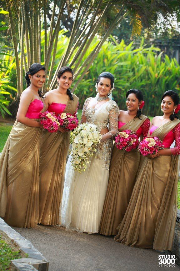 Sri Lankan fashion | Wedding frock designs, Indian bridesmaid dresses, Bridesmaid saree