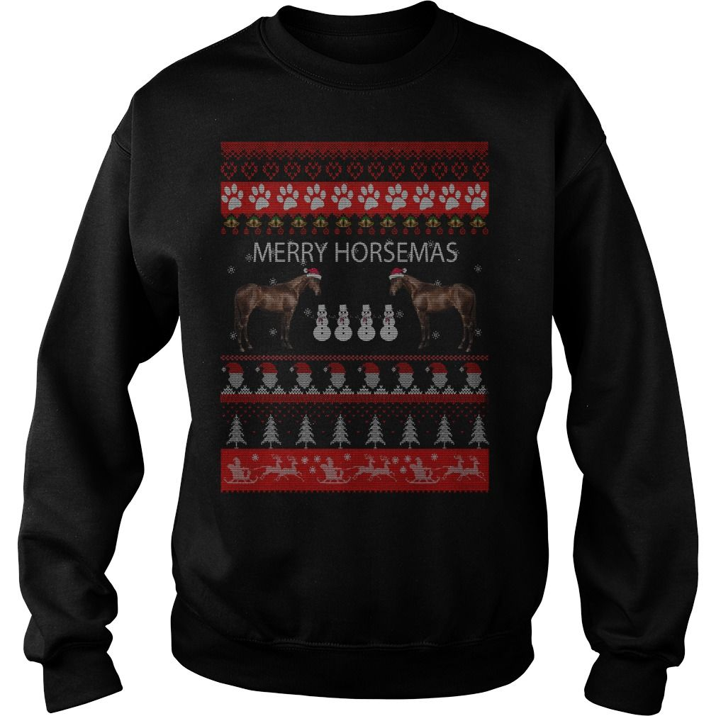 Nice Horse Ugly Christmas Sweater Shirt Hoodie Long Sleeve for Women ...