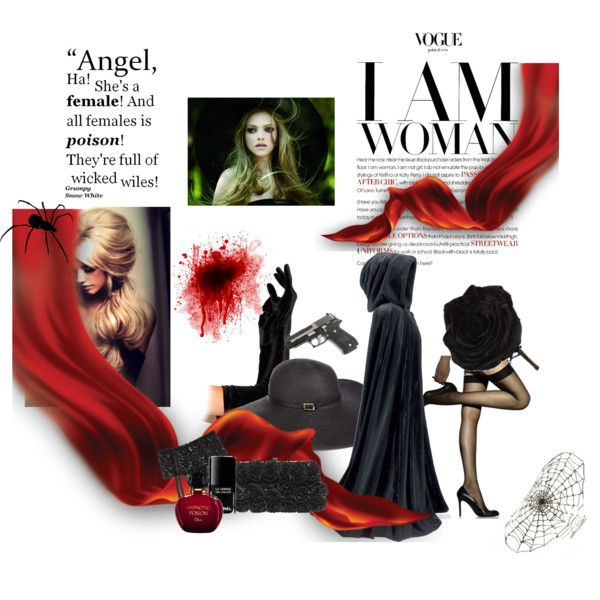 """Black Widow"" by bohohoney on Polyvore"